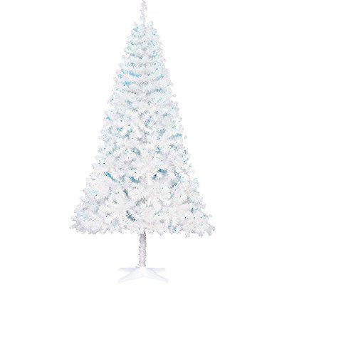 rare 65 ft tall white w blue led lights artificial christmas tree festive - 65ft Christmas Tree