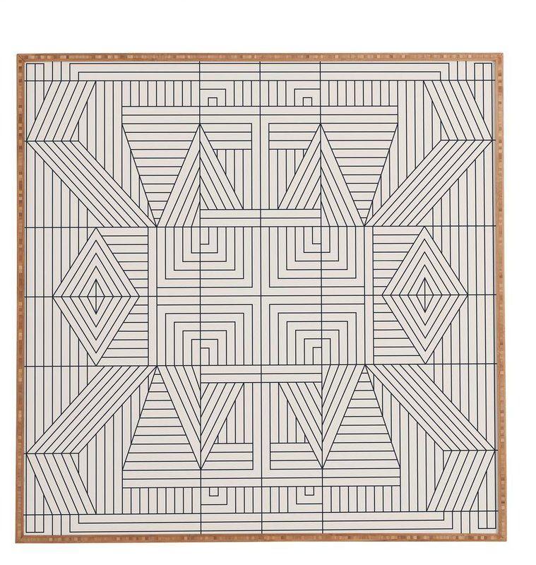 Line Mandala Framed Graphic Art Reviews Allmodern Framed Wall Art Graphic Art Print Wood Print