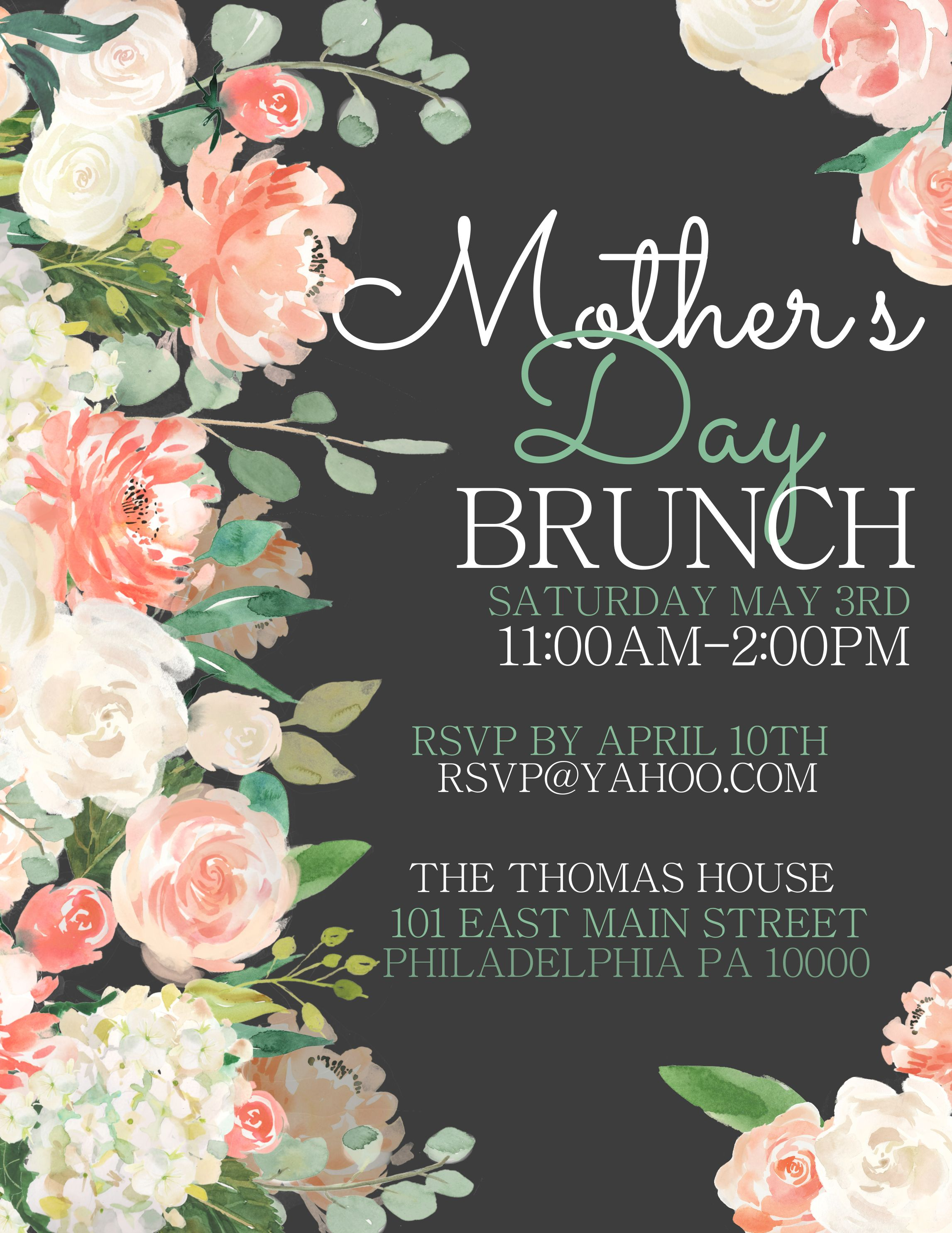 mother u0026 39 s day lunch flyer design  click to customize