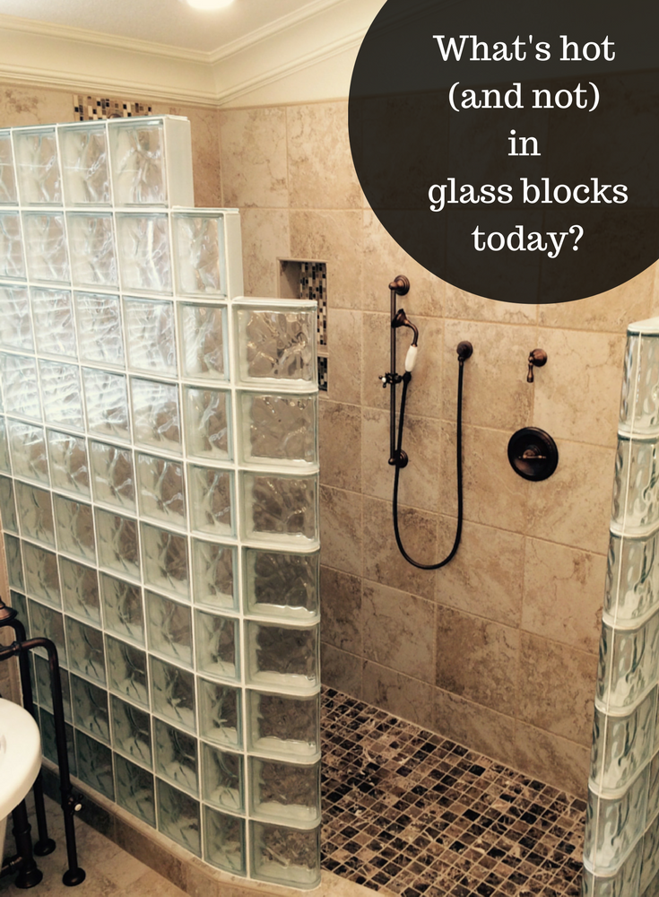 Combining Premade Gl Block Shower Wall Sections With An Easy To Install Ready For Tile Pan Is Just One Hot Feature In Blocks Today