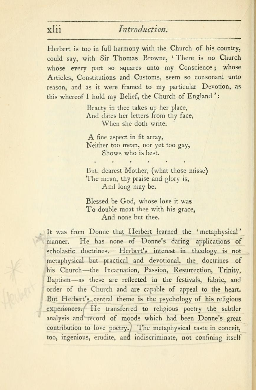 Metaphysical Lyrics And Poems Of The Seventeenth Century Donne To Butler Selected And Edited With An Essay Grierson Herbert John Clifford Sir 1866 1960 Internet Archive Essay Metaphysics