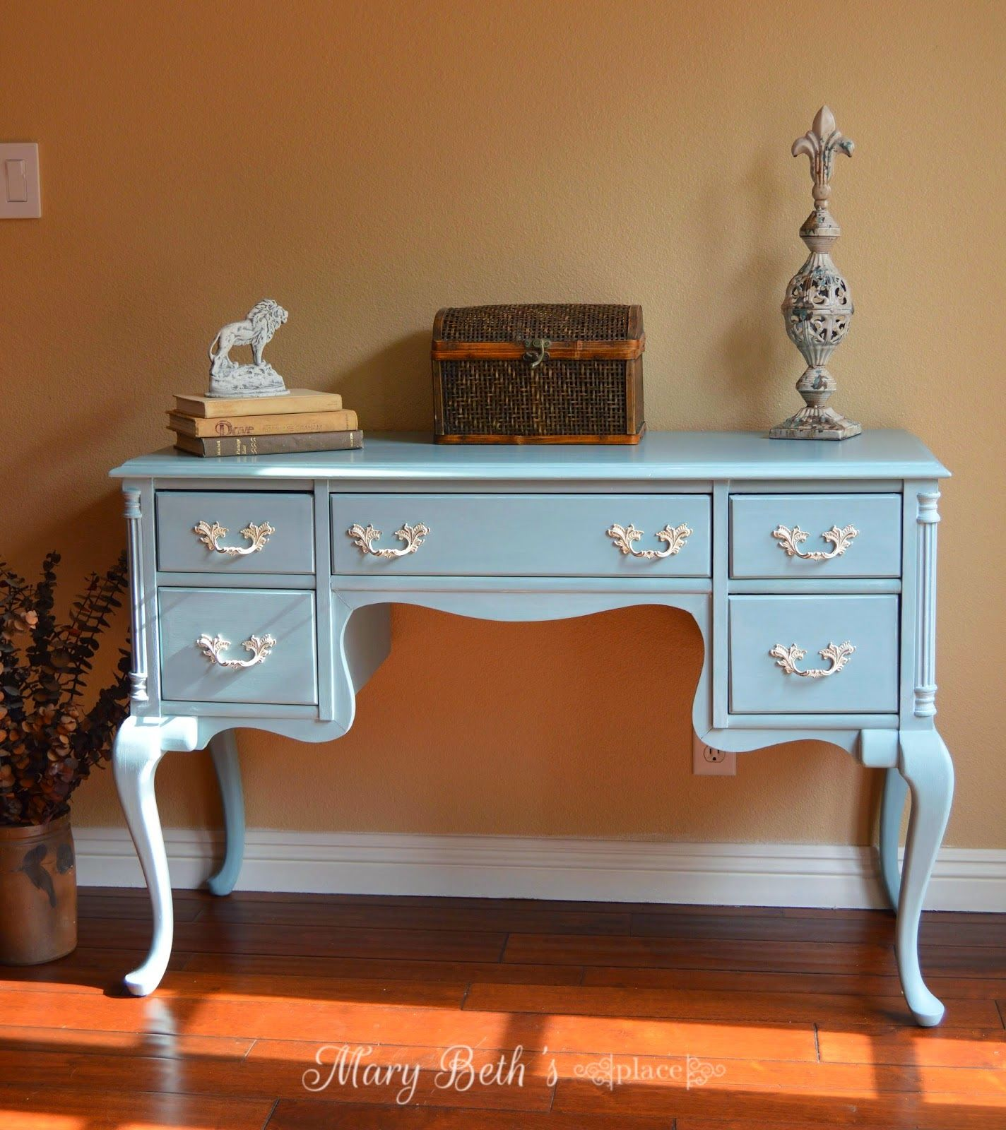 French Blue Desk