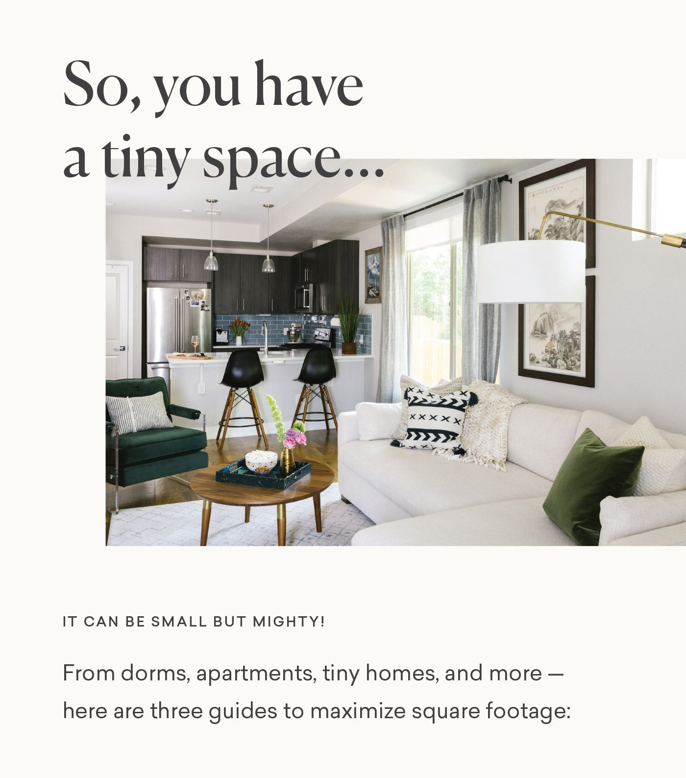 Interior design tips for tiny space it can be small but mighty learn the from havenly newsletter also rh pinterest