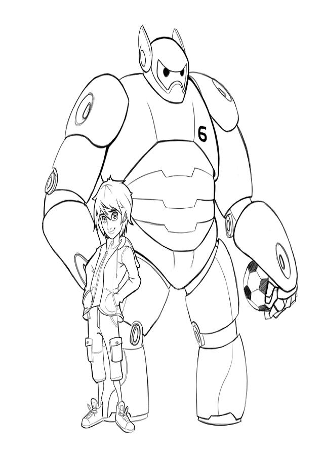 💠Dibujos para colorear Big Hero 6 - Dibujos para colorear | Pintar ...