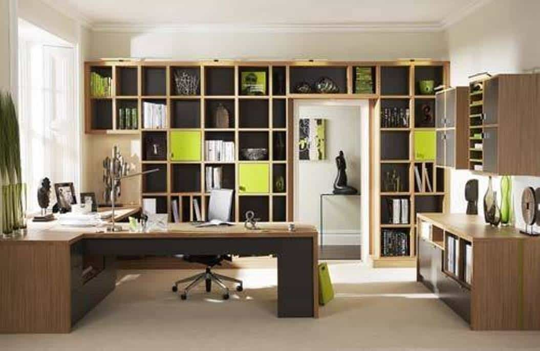 Home Office , Home Office Arrangement Ideas : Home Office Arrangement Ideas  With Cabinets And Bookcases