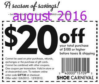Free Printable Coupons: Shoe Carnival Coupons