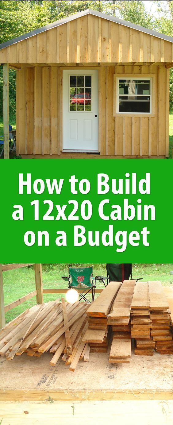 Beautiful Building A Cabin Yourself Is Much More Economical Than Buying A Prefab  Storage Shed. The Cost Of Materials For This Build, Including Doors And  Windows, ...