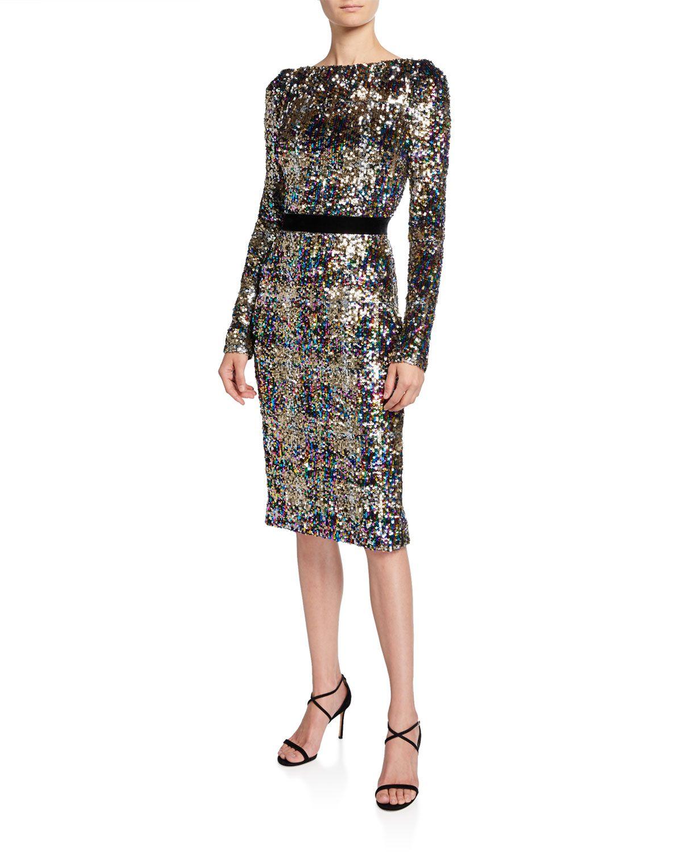 Patina Sequin Plaid Long Sleeve Cocktail Dress In 2020 Long Sleeve Cocktail Dress Plaid Cocktail Dress Sequins Plaid [ 1500 x 1200 Pixel ]