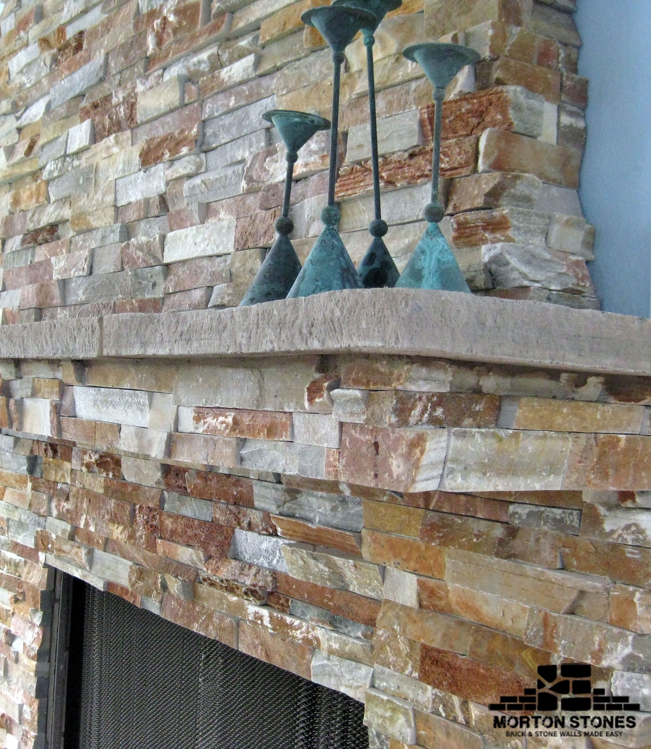 A Rustic Red Brick Fireplace Red Brick Fireplaces Stone Veneer