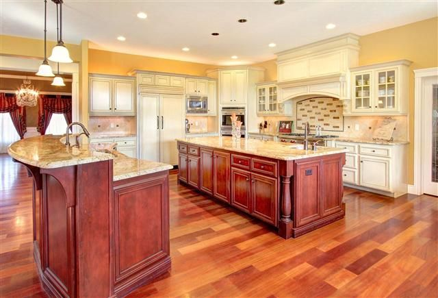 Gorgeous Kitchen in Stunning Eagle home. Brazilian Cherry Wood Flooring, Custom Cabinets... $899,000