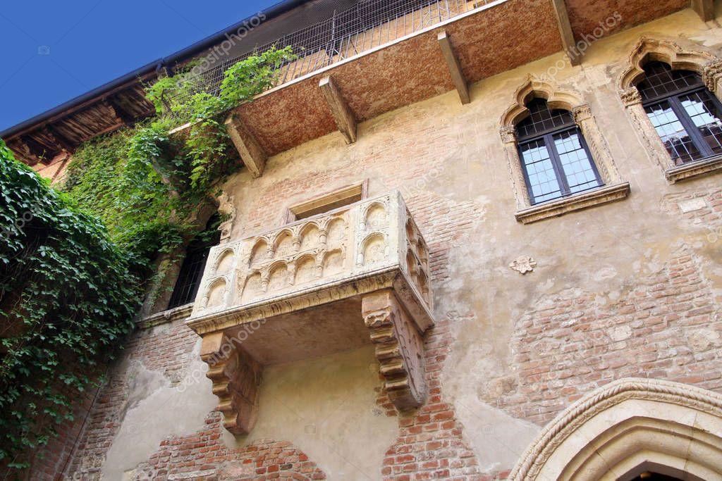 Details Romeo Juliet Balcony Verona Italy Stock Photo
