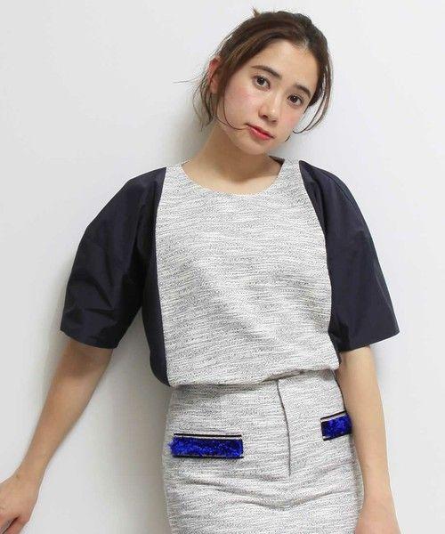 STUDIOUS:Lab. WEAR WOMENS(ステュディオス ラボ ウェア ウィメンズ)の【sakayori.】エステルコットンネオンツィードTOP(Tシャツ/カットソー)|詳細画像