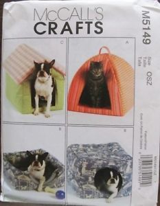 Soft Pet Beds Dog House Cat Igloo Puppy Cubby Sewing Pattern