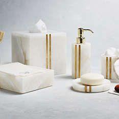 Bath Accessories Bath Accessory Set Bathroom Trash Can