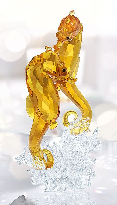 15ae713f0 Swarovski Crystal, Paradise Seahorse Couple Sculpture | all glass ...