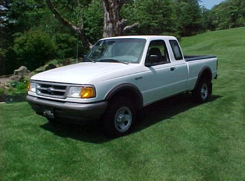 Car 9 1997 Ford Ranger Extended Cab White 2004 2007 Ford