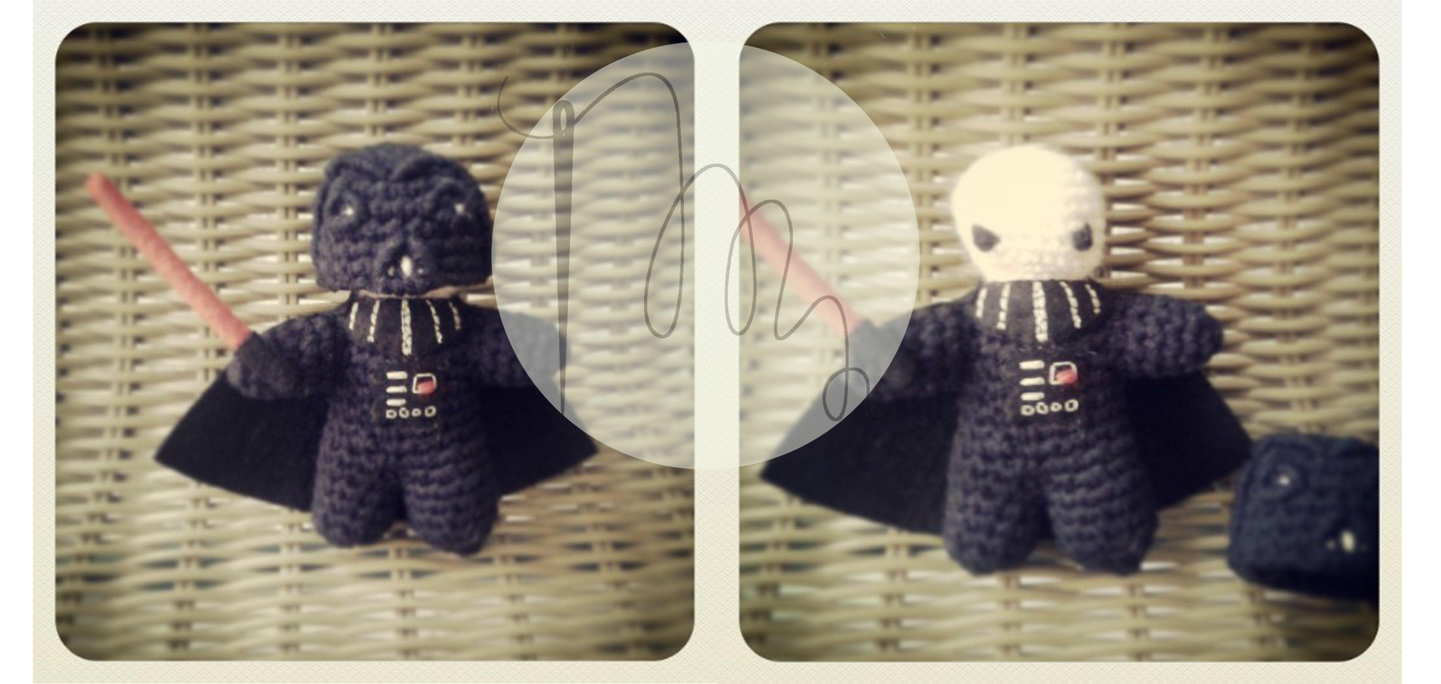 Darth Vader de ganchillo www.mneedles.blogspot.com