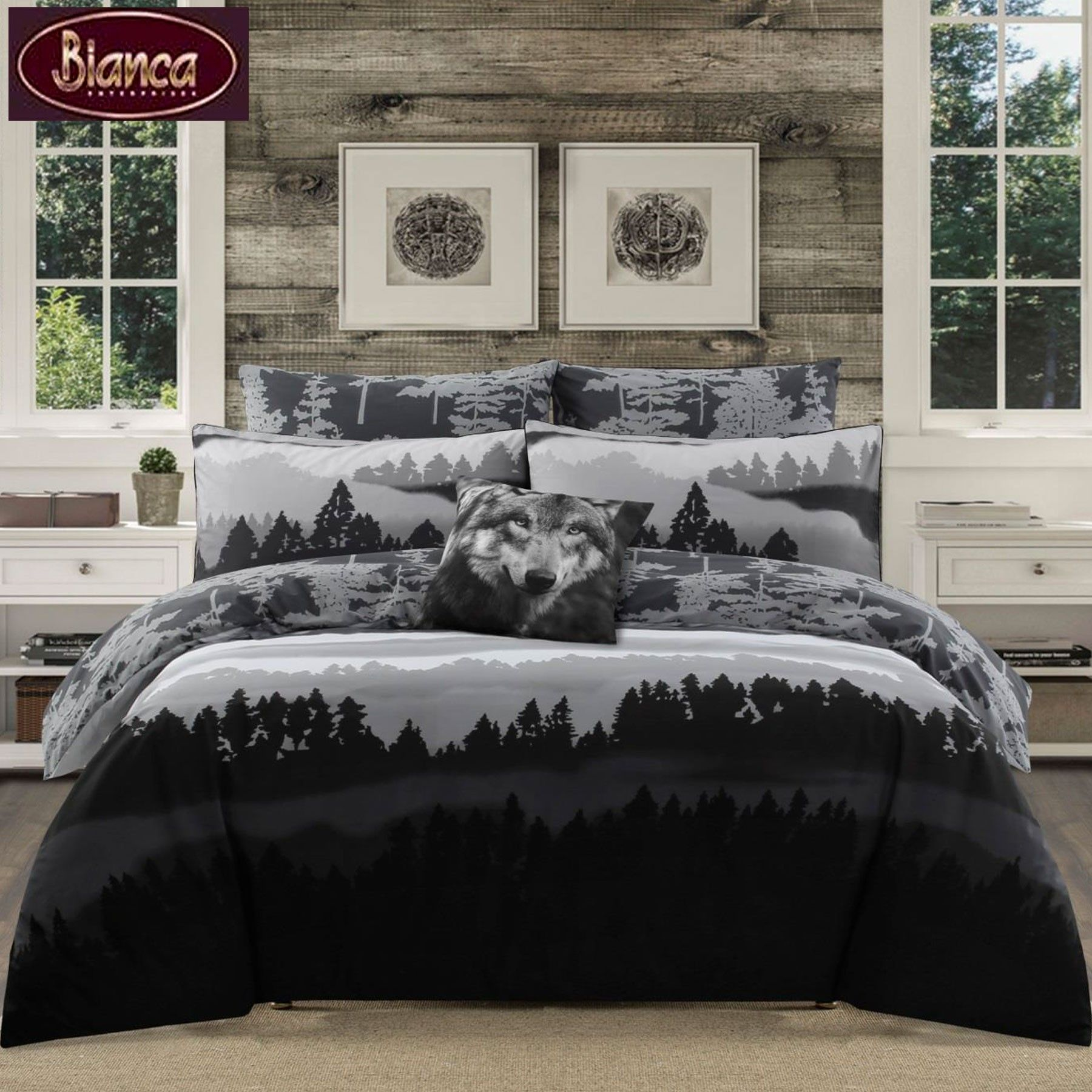 Jacquard or Embellishment Quilt Cover Set by Georges Fine Linens QUEEN KING