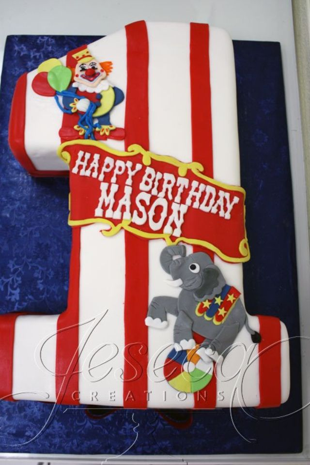 Love This Idea For A 1st Birthday Circus Party With Images