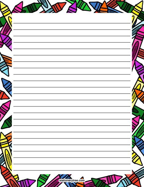 It is a picture of Gratifying Free Printable Stationary With Lines and Borders