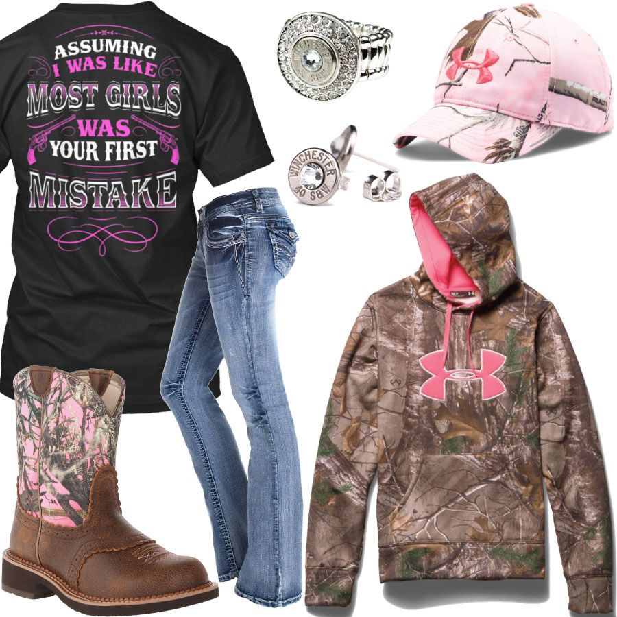 Your First Mistake Under Armour Pink Camo Cap Outfit - Real Country Ladies a07ea17268584
