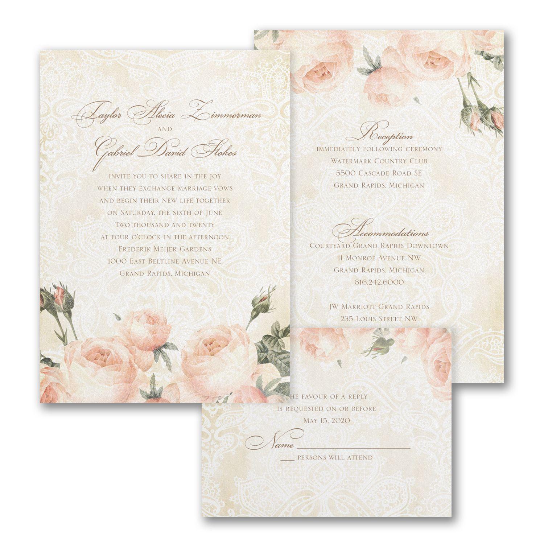 Warm Roses - ValStyle Invitation - White | Invitations | Pinterest ...
