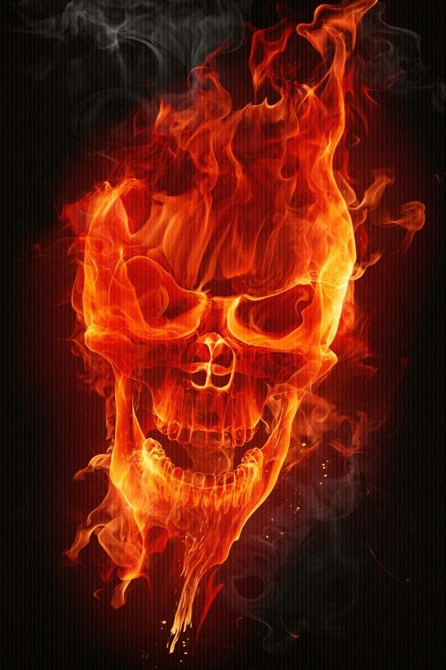 Skull Fire Wallpapers on