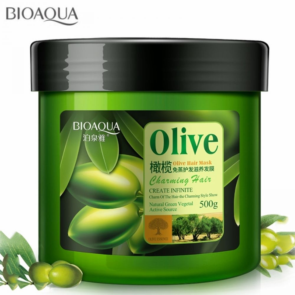 Natural Hair Care Product Olive Oil Hair Mask Moisturizing Deep Repair Frizz For Dry Damaged Hair Smooth Hair Conditioner 500ML #naturalhaircareproducts