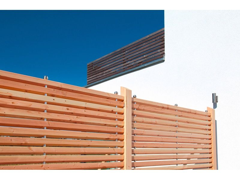 Sichtschutzzaun New Art Douglasie gerade 1800 x 1800 mm