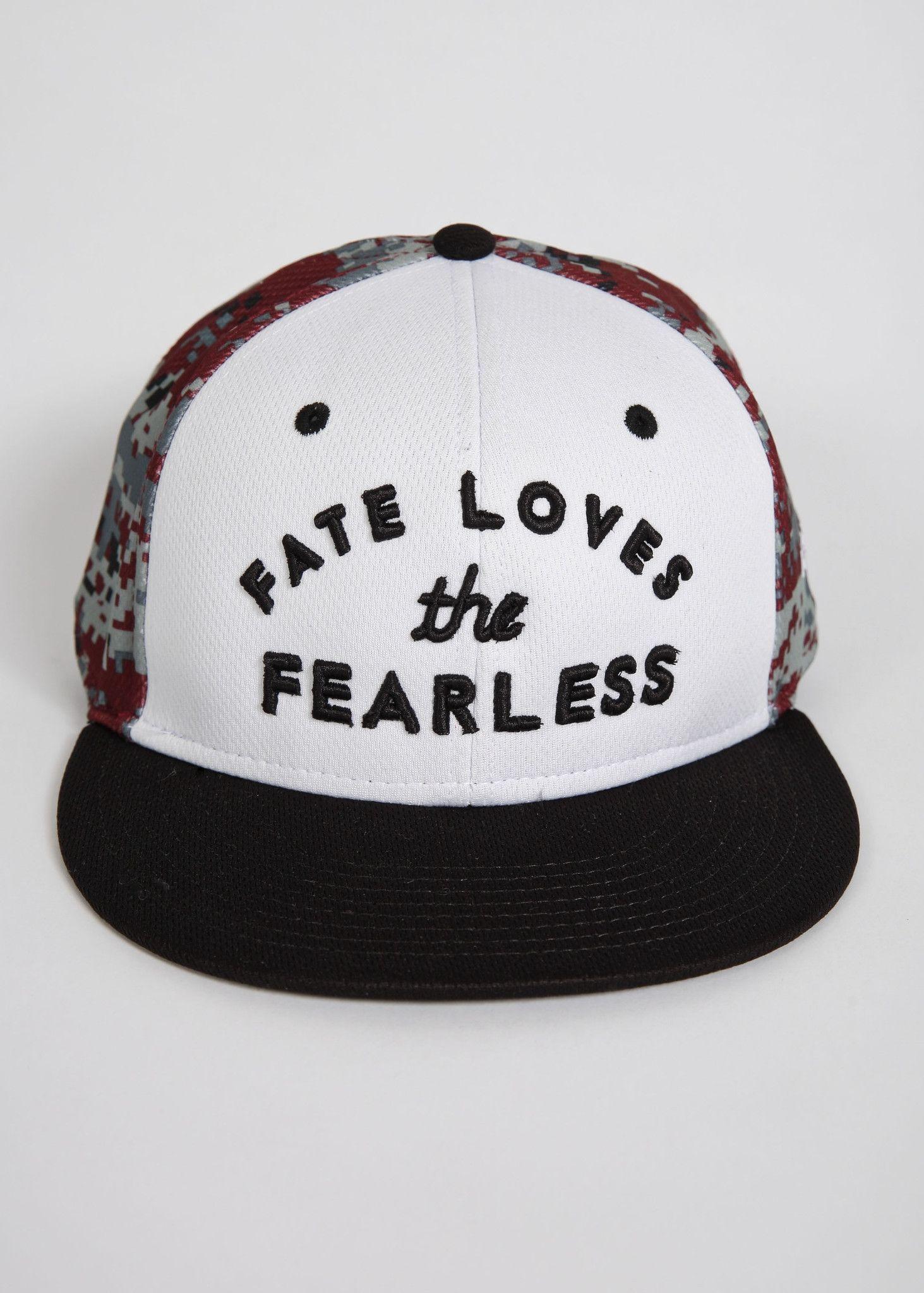 12ed479e41b Fate Loves the Fearless Snapback Snapback Hats