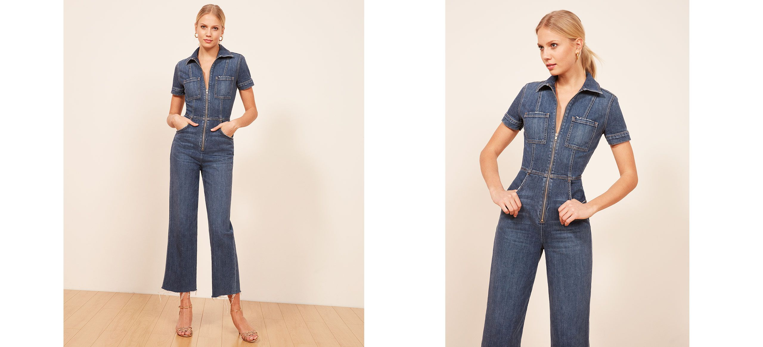 910be97d95f9 The Georgia Jumpsuit is part of the Reformation Jeans collection. This is a  slightly cropped