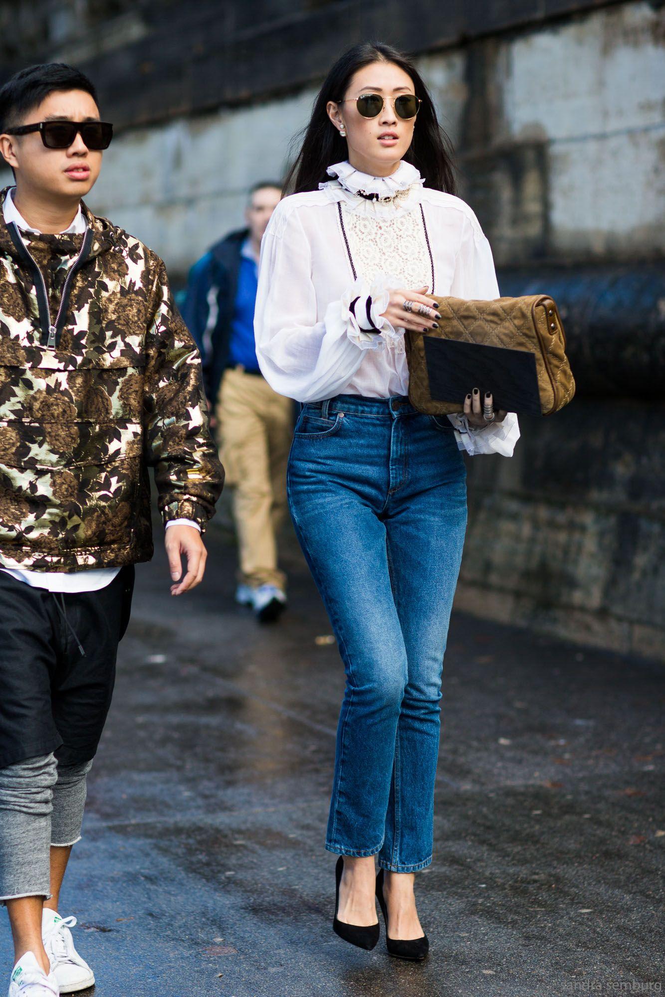 Justine Lee#jeans#street style