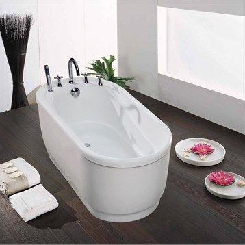 Aquatica Purescape 028 Freestanding Acrylic Bathtub White