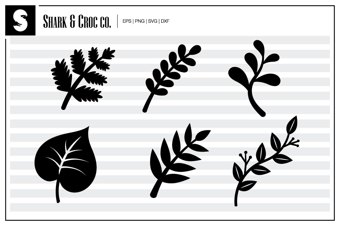 This Incredible Freebie Is Yours To Download At No Charge From The Awesome Shark Croc Co We Hope You Love It As Much As Simple Leaf Flower Svg Leaf Template