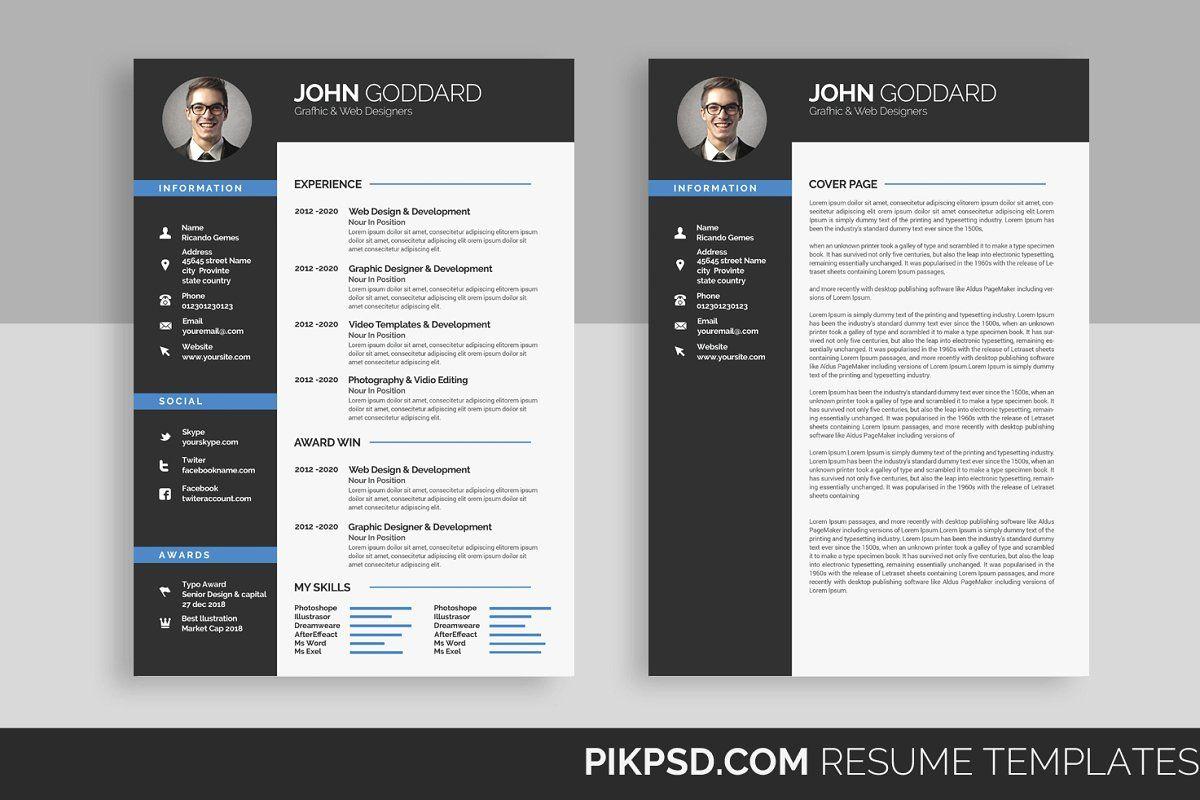 Resume Cv Resume Design Template Resume Templates Resume Cv