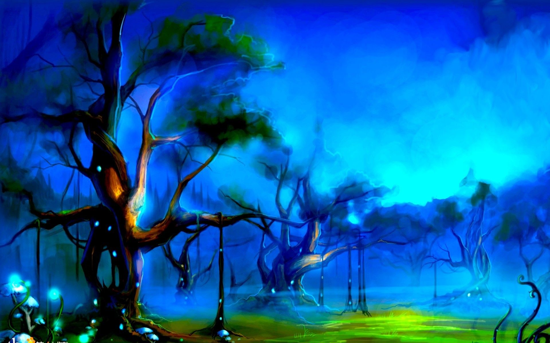 Mistique forest (1920x1200, forest)  via www.allwallpaper.in