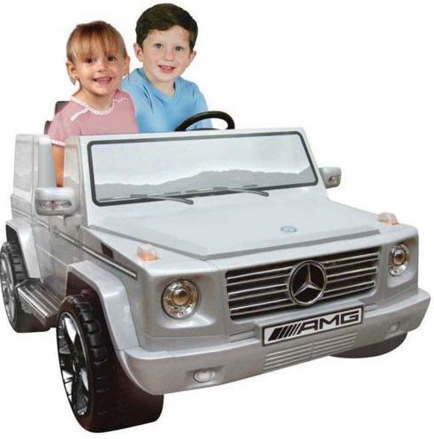 Mercedes Benz G55 12 Volt Silver 2 Seater Ride On Car Arbonne