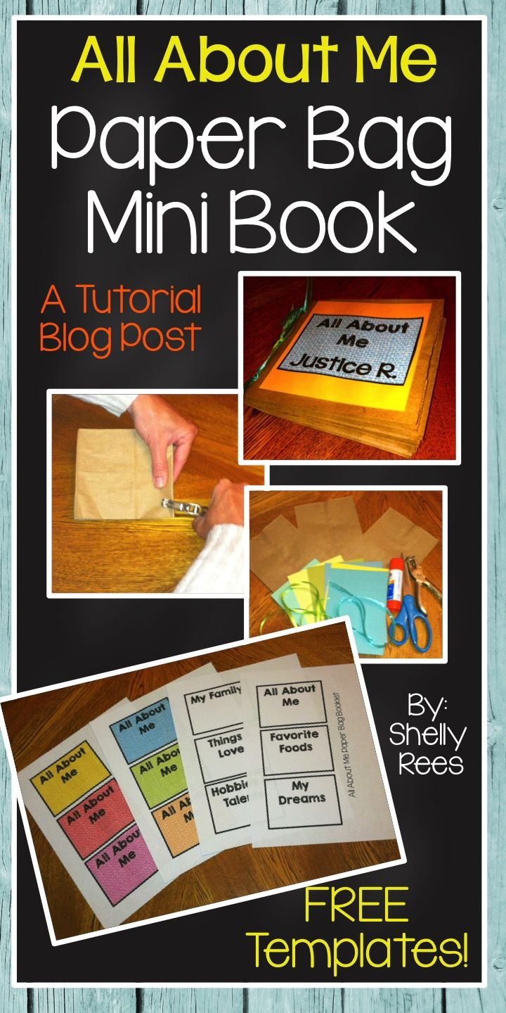 Workbooks all about me workbook : All About Me Paper Bag Mini Book with FREE templates! Perfect for ...