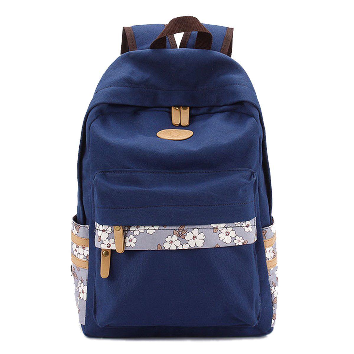 9f5f2fb522 VentoMarea Lightweight Canvas Backpacks for Teen Girls School Bag Casual  Travel Daypacks