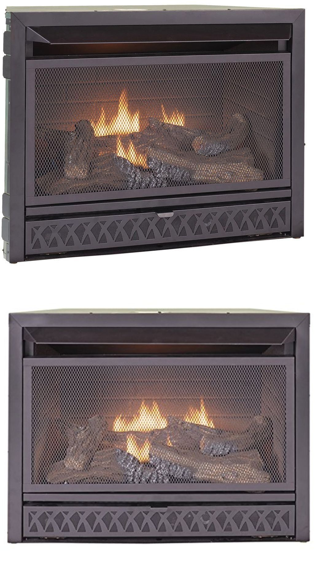 Thermostats for gas fireplace - Fireplaces 175756 29 In Propane Natural Gas Fireplace Insert Dual Fuel Vent Free