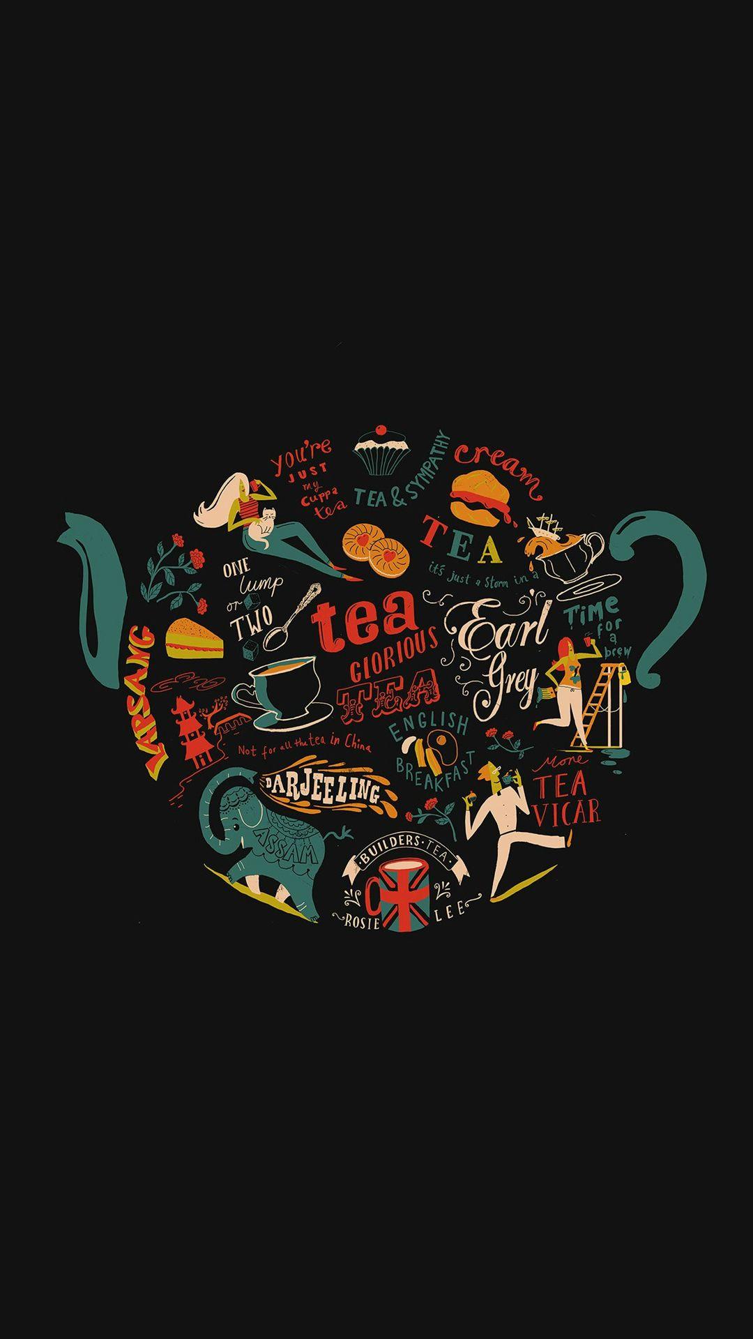 Migyy Tea Art Illust Painting Dark Iphone 6 Plus