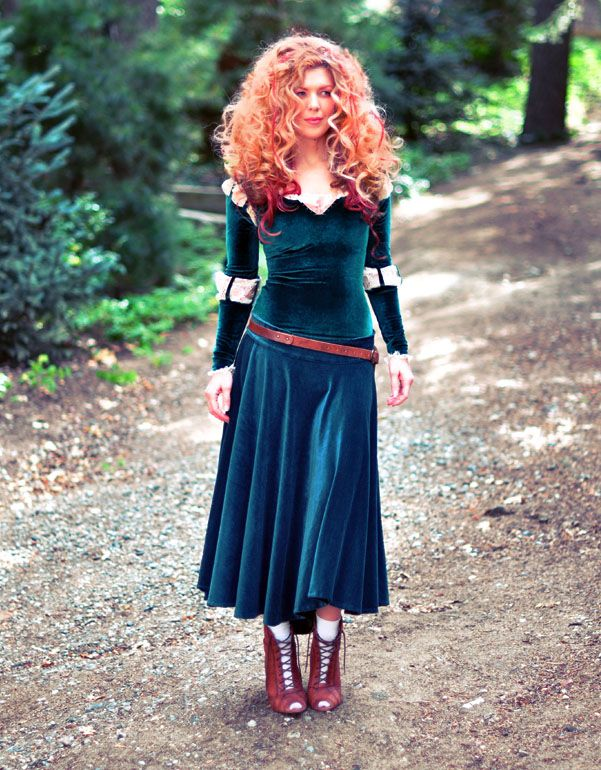 Diy Merida Costume Adult Hair Makeup Tutorials All Hallows