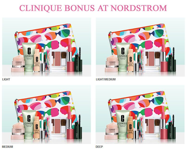 Clinique bonus at nordstrom yours with 27 order http