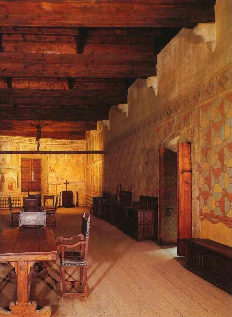 Castello Di Fenis Interno Italy Castles Interior Medieval Decor Italian Wall Art