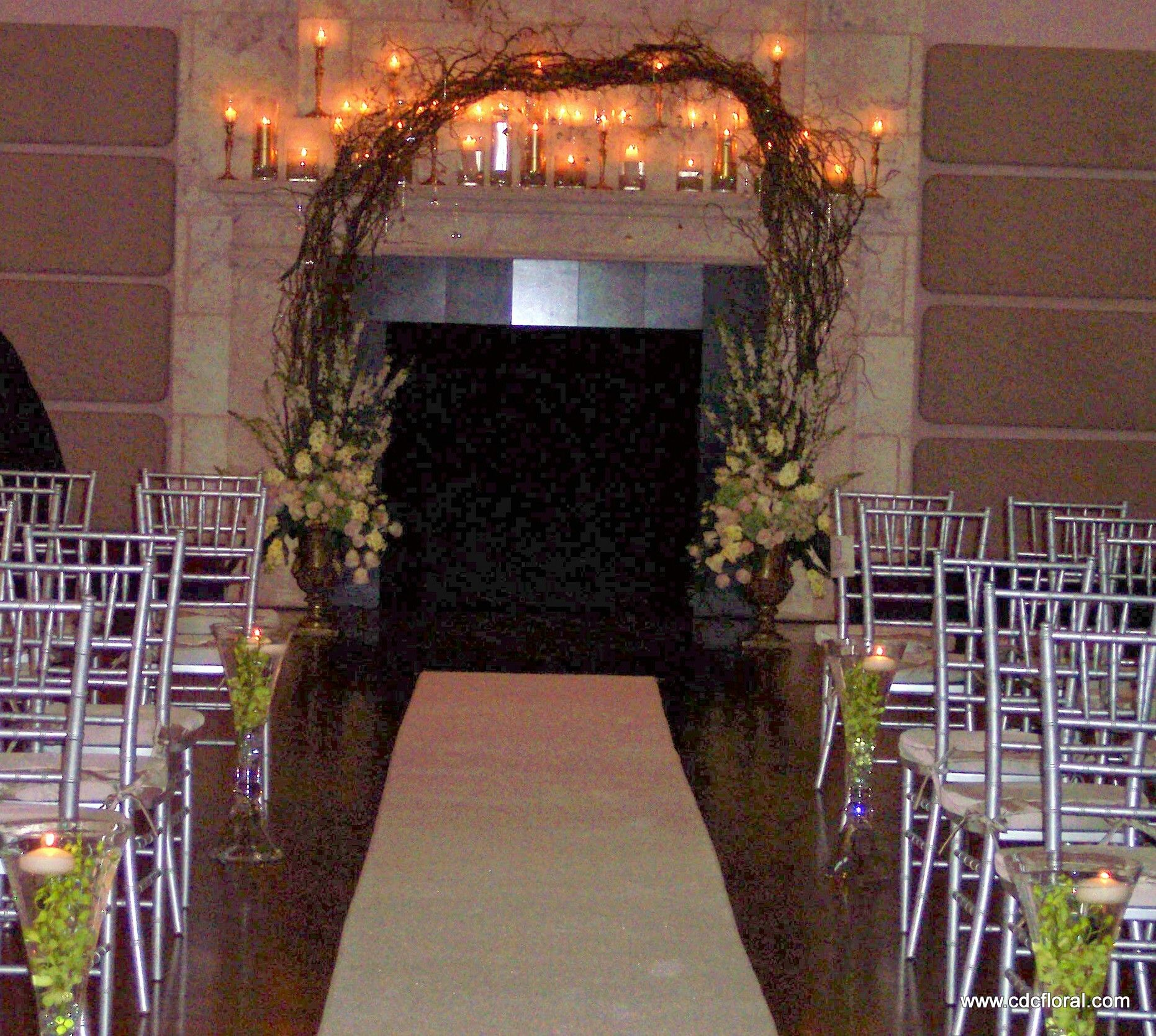 Mantle Wedding Altar: The Ballroom At Isleworth Country Club Was Transformed