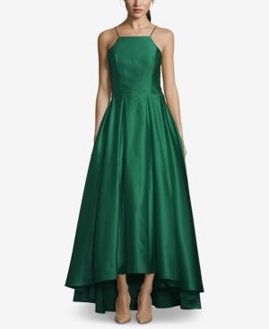 0133a04b0dc00 Betsy   Adam High-Low Satin Gown - Green 14