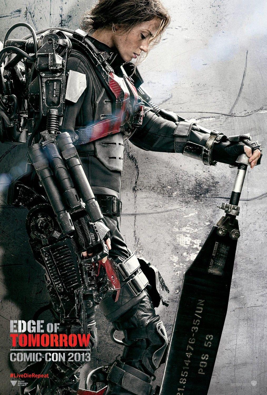 Edge Of Tomorrow Emily Blunt Poster Edge Of Tomorrow Emily Blunt Movies Emily Blunt