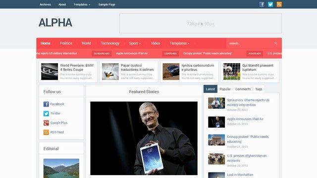 Alpha - A Complex WordPress Magazine Theme by WPZOOM Plantilla - online newspaper template