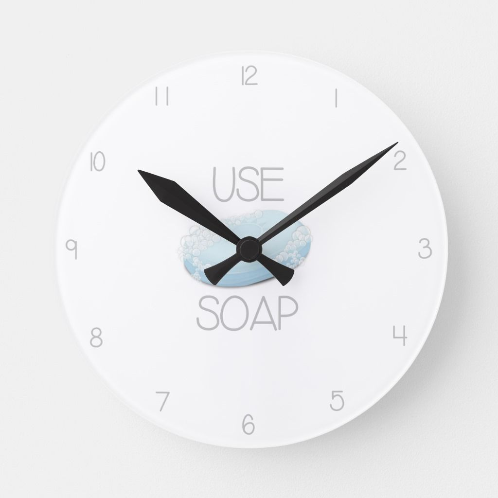 Funny Bathroom Clock Zazzle Com Bathroom Humor Clock Bathroom