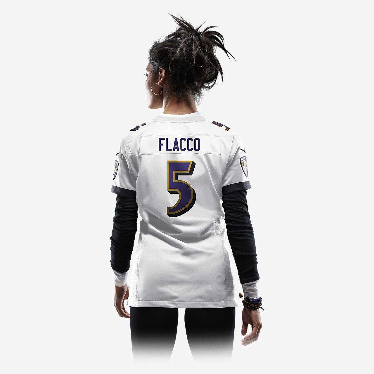 Nike Nfl Baltimore Ravens (Joe Flacco) Womens Football Away Game Jersey - M  ravens 3b0bc4da4